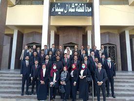 صورة محافظ شمال سيناء يدعم فريق كرة القدم للصم