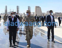 صورة الرئيس السيسي يطلع على الموقف التنفيذي والإنشائي لعدد من الأحياء والمنشآت بالعاصمة الإدارية