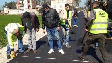 صورة محافظ البحيرة يؤكد رفع كفاءة طريق دمنهور / دسوق ورصف طريق ترعة القناوية بأبو حمص