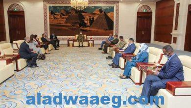 صورة عضو مجلس السيادة الفريق إبراهيم جابر يلتقي رئيس بعثة يونيتامس