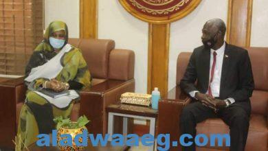 صورة وزير الدفاع يلتقي وزيرة الخارجية
