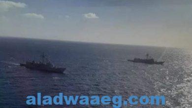 صورة القوات البحرية المصرية والأسبانية تنفذان تدريبًا بحريًا عابرًا فى نطاق الأسطول الجنوبى بالبحر الأحمر