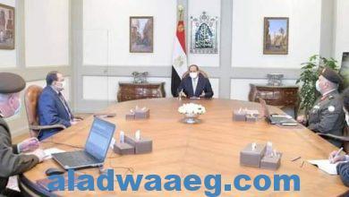 صورة السيد الرئيس يتابع عدد من المشروعات القومية التي تشرف عليها الهيئة الهندسية