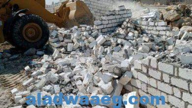 صورة إزالة ٧ حالات تعدي على أرض أملاك دولة بمركز أطسا