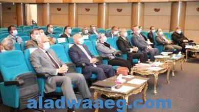 صورة بحضور محافظي القاهرة والقليوبية والجيزة
