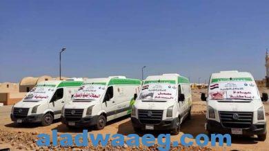 صورة قافلة طبية مجانية بمدينة القصير بالتعاون مع نخبة من أطباء جامعة المنصورة