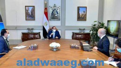 صورة السيد الرئيس يتابع الموقف التنفيذي وسير العمل بمجموعة المدن الجديدة على مستوي الجمهورية
