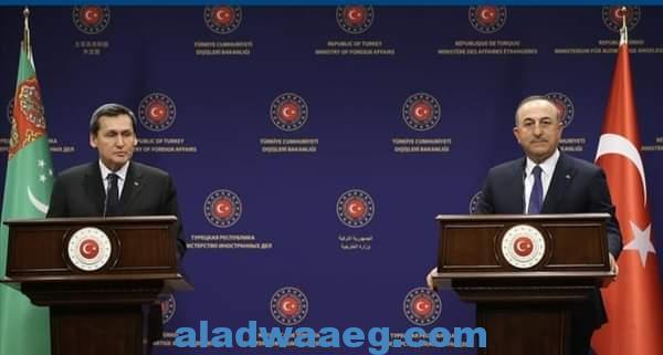 مباحثات بين وزيري الخارجية التركي والتركمانستاني بأنقرة