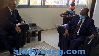 صورة وزير خارجية جيبوتي يستقبل السفير المصري
