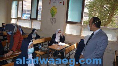 صورة نائب محافظ المنيا، يتابع سير امتحانات الصف الأول الثانوي بعدد من اللجان