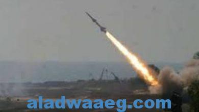 صورة إطلاق صاروخ باليستي لاستهداف المدنيين في مدينة خميس مشيط