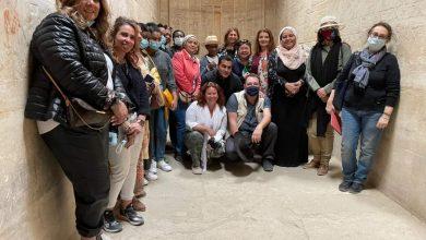 صورة زيارة زوجات سفراء ٢٠ دولة بالعالم بمرافقة حرم وزير الخارجية إلى منطقة آثار سقارة