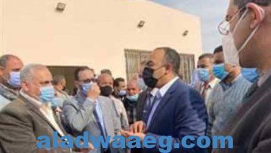 صورة وفد وزارة التخطيط يتابع مشروعات حياة كريمة