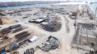 صورة اعمال تنفيذ المحطة متعددة الأغراض بميناء الإسكندرية
