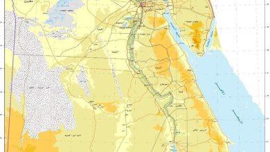 صورة الخريطة الرسمية لجمهورية مصر العربية