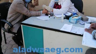 صورة الكشف على ١٥٥٠ حالة خلال القافلة الطبية بقرية القلمينا بمركز الوقف  