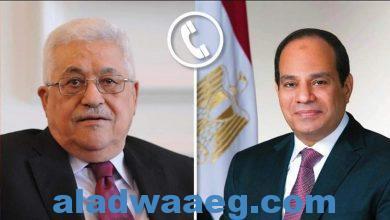 """صورة الرئيس السيسي يؤكد لمحمود عباس """"هاتفيا"""" ثبات الموقف المصري تجاه القضية الفلسطينية"""