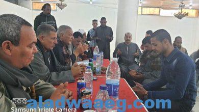 صورة جلسة صلح بين طرفين بقرية بني صالح بالفيوم