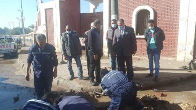 صورة محافظ أسيوط يكلف السكرتير المساعد بمتابعة أعمال إصلاح ماسورة مياه بنفق الأزهر