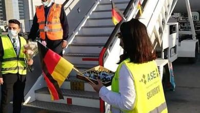 صورة مطار_الغردقة  الدولى يستقبل أول رحلة طيران قادمة من ألمانيا.