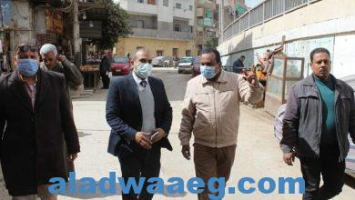 صورة رئيس مدينة المنيا:يتفقد سير اعمال الرصف والتجميل