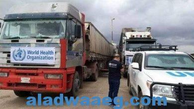 صورة ضمت 93 شاحنة.. قافلة مساعدات أممية تدخل إلى إدلب مجددا