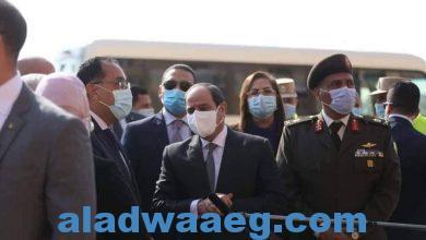 صورة الرئيس السيسي في زيارة لعزبة الهجانة