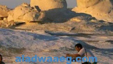 صورة جبال الصحراء البيضاء في مصر
