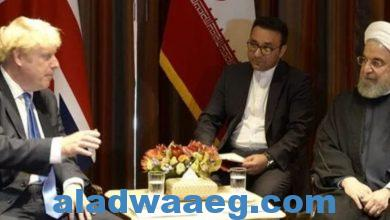 صورة محادثات بين رئيس الوزراء البريطاني وبين الرئيس الإيراني