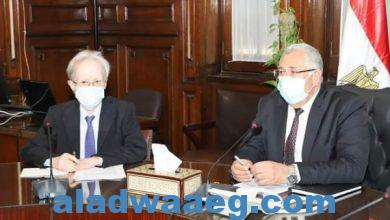 صورة مباحثات مشتركة في لقاء وزير الزراعة بالسفير الياباني