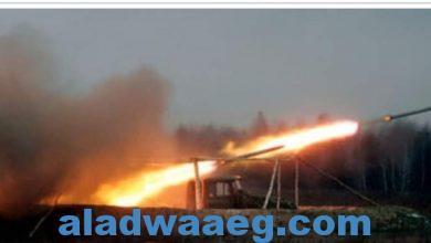 صورة الصاروخ جراد يدق قاعدة عين الأسد بالعراق