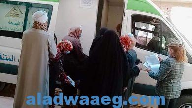 صورة الكشف على ٦١٠ حالة خلال القافلة الطبية بقرية الرفشة بمركز أبوتشت  
