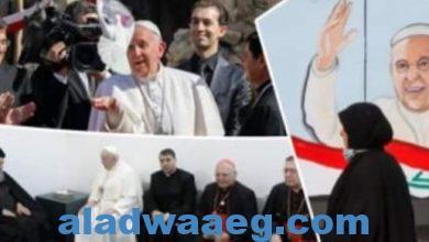 صورة بابا الفاتيكان يغادر مطار بغداد الدولي عائدا إلى روما