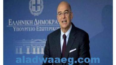 صورة وزير خارجيةاليونان في القاهرة لبحث آخر التطورات في شرق المتوسط