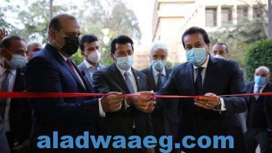 صورة وزير التعليم العالي يفتتح أعمال تطوير وتجديد مبني الاتحاد الرياضي المصري للجامعات