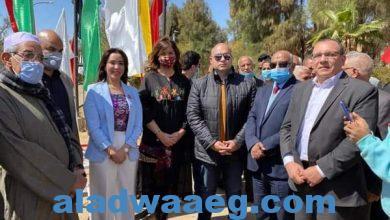 """صورة تحت عنوان""""مصرية بـ100 راجل""""وزيرة الهجرة تبدأ فاعليات زيارة للواحات البحرية"""