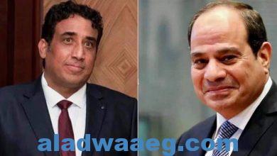 صورة الرئيس #السيسي يهنئ رئيس المجلس الرئاسي الليبي على ثقة البرلمان في الحكومة الجديدة