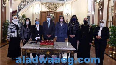 صورة مجلس الوزراء يحتفل بالوزيرات بمناسبة يوم المرأة المصرية