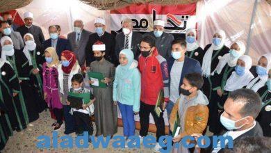 صورة وزير الأوقاف ومحافظ جنوب سيناء يكرمان حفظة القرآن الكريم