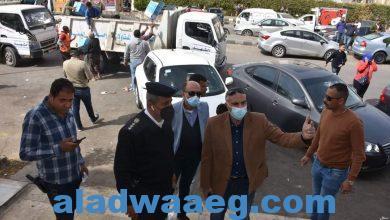 """صورة رئيس جهاز """"القاهرة الجديدة"""" يقود حملة مكبرة لضبط المخالفات ورفع الإشغالات بالتجمع الأول"""