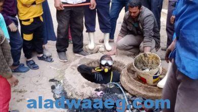 صورة نتيجة سوء استخدام الأهالى انترلوك داخل مطابق الصرف الصحي بحى الأربعين بمنشأة عبدالله
