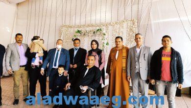 صورة بالصور.. تكريم وكيل مديرية القوى العاملة بالمنيا لبلوغة سن المعاش