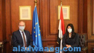 صورة وزيرة التعاون الدولي تبحث مع سفير الاتحاد الأوروبي التطور في العلاقات المشتركة