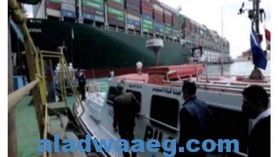 صورة جنوح السفينة وتعطل القناة وأثرها علي التجارة العالمية