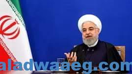 صورة روحانى يؤكد للعالم وللولايات المتحدة الأمريكية بأن أيران لاتسعى لسلاح نووي