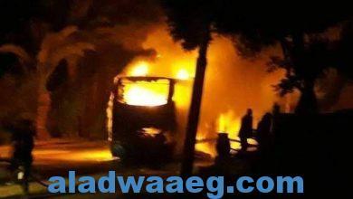 صورة ارتفاع عدد وفيات تفحم أتوبيس طريق أسيوط لـ 12 شخصا وإصابة 4 آخرين
