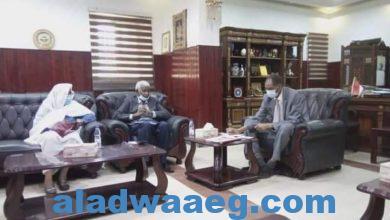 صورة وزير الزراعة السوداني يلتقي محافظ مشروع الهواد للتنمية المتكاملة