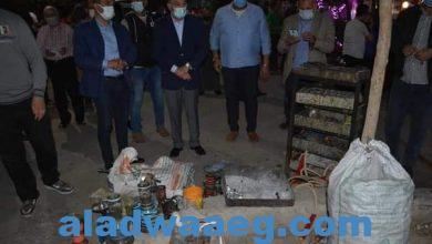 صورة محافظ المنيا يقود حملة مكبرة، لمتابعة مواعيد غلق المحلات