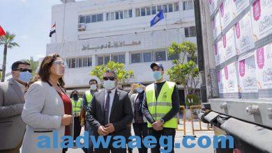 صورة محافظ دمياط تستقبل قافلة أبواب الخير من صندوق تحيا مصر لدعم الأسر الأولى بالرعاية