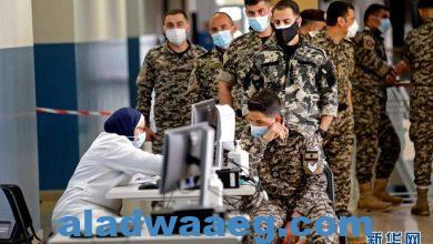 صورة تطعيم ضباط وجنود قوات الأمن اللبنانية باللقاح الصيني